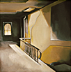 Thumbnail of Loft Interior, New York: Painting by Ethel Fisher, 1973, oil on canvas, 15 x 15 inches, twentieth-century painting of a New York loft
