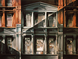 Thumbnail of The Potter Building: Painting of the Potter Building, a New York landmark, by Ethel Fisher, 1976, oil on canvas, 45 x 60 inches, twentieth century painting of the building façade at 38 Park Row on the corner of Beekman Street, built in 1882-86 and designed by Norris G. Starkweather in a combination of the Queen Anne and neo-Grec styles, as an iron-framed office building.