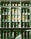 Thumbnail of Roosevelt Building: Painting by Ethel Fisher, 1974, oil on canvas, 68 x 54 inches, twentieth century painting of a New York building façade of the Roosevelt Building also known as the Roosevelt Hotel at Madison Avenue and 45th Street in midtown Manhattan, named in honor of President Theodore Roosevelt.