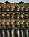 Thumbnail of W. 14th Street: Painting by Ethel Fisher, 1974, oil on canvas, 58 x 46 inches, twentieth century painting of a New York building façade on West 14th Street.